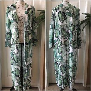 Other - Banana Print Kimono Bathingsuit Cover-up